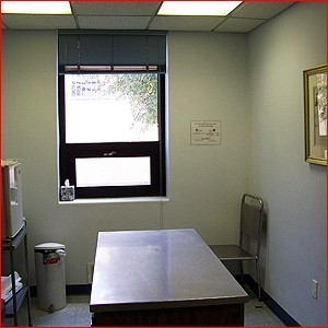 PFA has two clean, well appointed exam rooms.